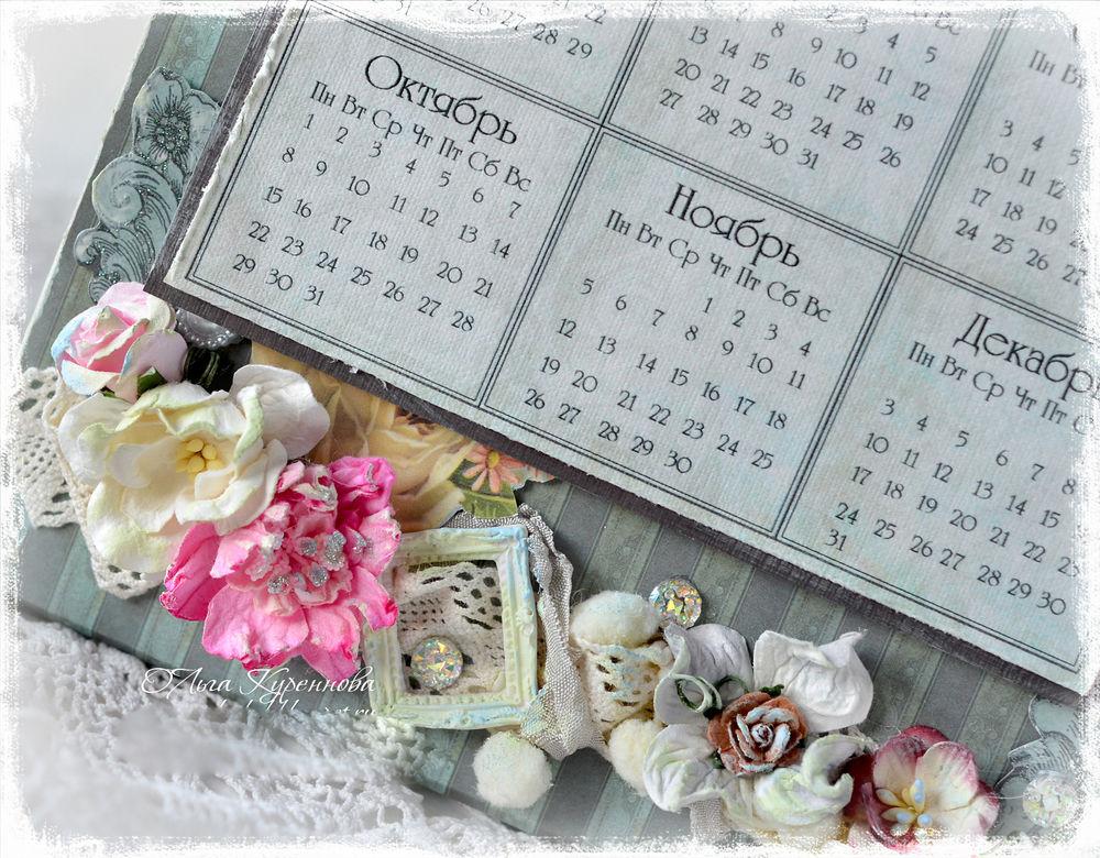 календарь ручной работы, винтажный