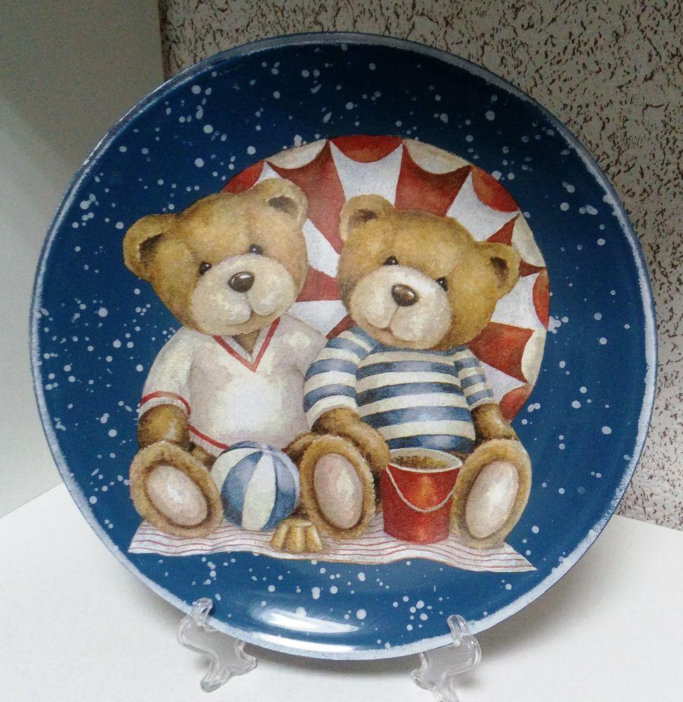 Обратный декупаж на тарелке, фото № 2