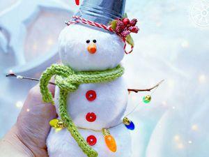 Шьем симпатичного снеговичка. Ярмарка Мастеров - ручная работа, handmade.