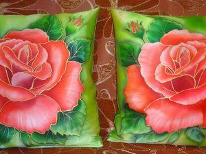 Акция: скидки на декоративные подушки с ручной росписью батик!. Ярмарка Мастеров - ручная работа, handmade.