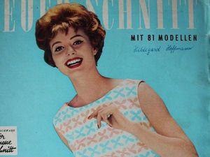 Neuer Schnitt — старый немецкий журнал мод 6/1960. Ярмарка Мастеров - ручная работа, handmade.