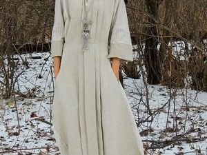 Вновь принимаю заказы на БОХО макси платье из натурального льна (№244) | Ярмарка Мастеров - ручная работа, handmade