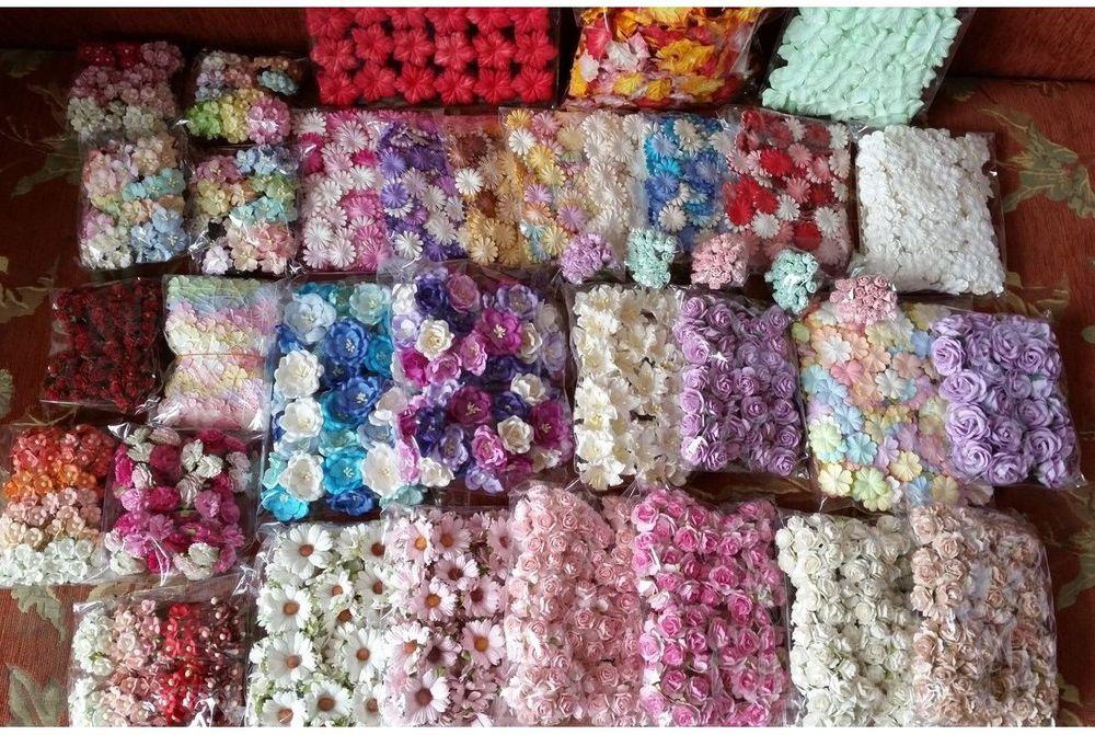 таиланд цветочки, цветочки из бумаги, цветочки для скрапа
