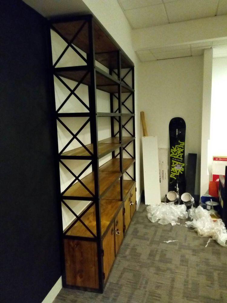 стеллажи в стиле лофт, производство стеллажей, мебель в офис