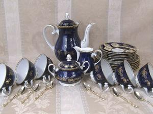 Чайный сервиз кобальт Reichenbach. Ярмарка Мастеров - ручная работа, handmade.