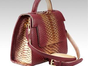Стильная сумка из кожи питона премиум класса (видео обзор). Ярмарка Мастеров - ручная работа, handmade.