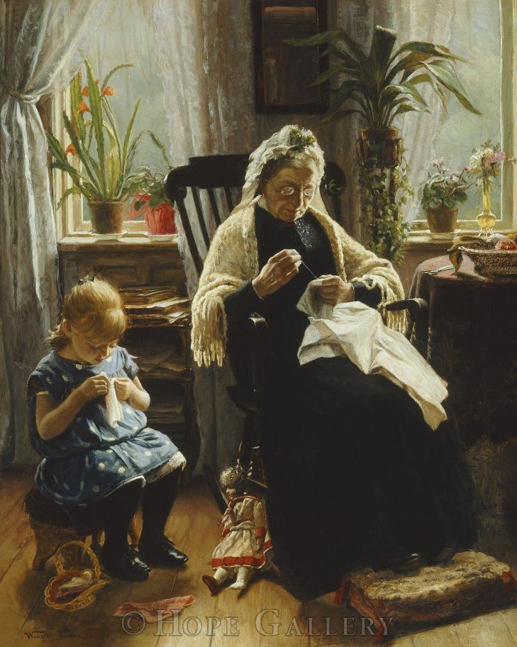 Когда есть чем заняться — стареть некогда: душевные картины о бабушках-рукодельницах, фото № 53