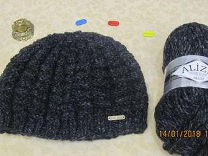 Вязание мужской шапки...Экспромт. Ярмарка Мастеров - ручная работа, handmade.