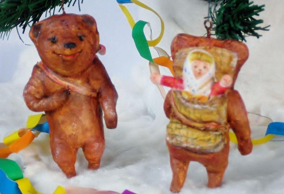 ватные елочные игрушки, подарок на новый год
