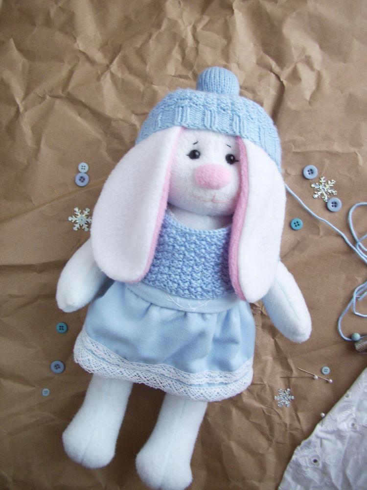ручная работа, творчество, белый кролик