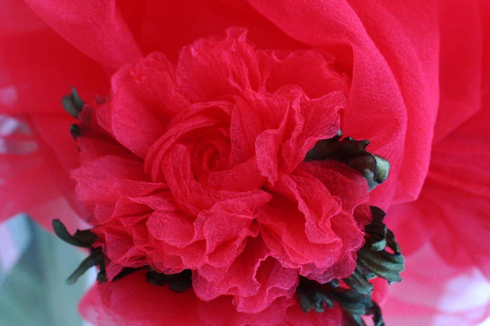 авторская работа, цветы из ткани, украшение для волос