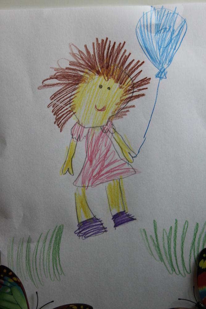 игрушка по рисунку, рисунок ребенка, кукла крючком, 100% хлопок