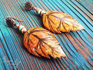 Лепим из полимерной глины кейн «Осенний лист» для создания серёг и броши. Ярмарка Мастеров - ручная работа, handmade.