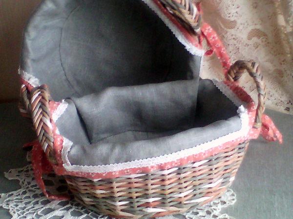 Как сшить чехол для овальной или круглой корзинки | Ярмарка Мастеров - ручная работа, handmade