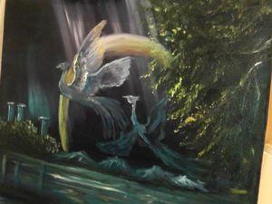 Видео мастер-класс по живописи маслом «Птицы счастья». Часть 1. Ярмарка Мастеров - ручная работа, handmade.