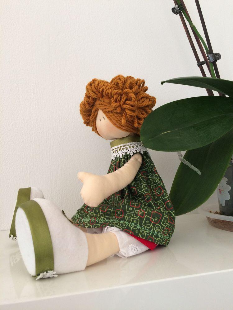 текстильная кукла, башмачок