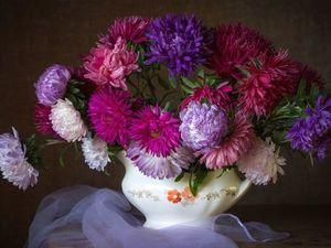 """Комплект """"Цветы с морозной свежестью"""". Ярмарка Мастеров - ручная работа, handmade."""
