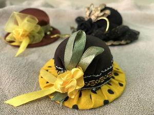 Романтичные шляпки - игольницы или шляпки - заколки. | Ярмарка Мастеров - ручная работа, handmade