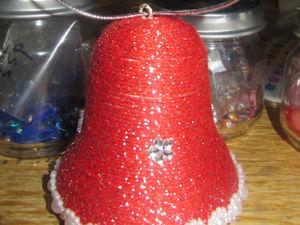 Как просто сделать колокольчик на основе пенопластовой формы. Ярмарка Мастеров - ручная работа, handmade.
