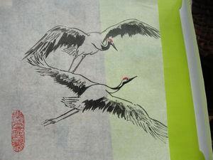 Журавль в китайской живописи | Ярмарка Мастеров - ручная работа, handmade