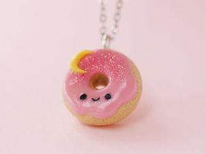 Лепим милый пончик из полимерной глины. Ярмарка Мастеров - ручная работа, handmade.