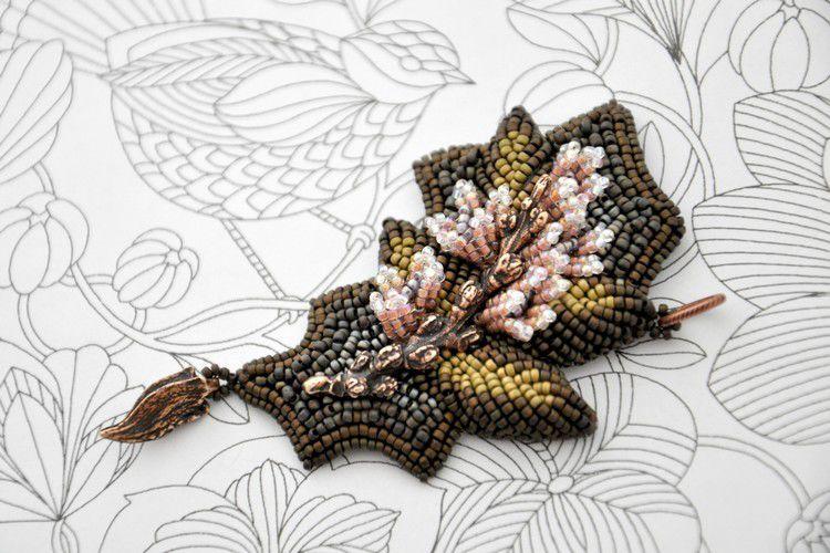 вышивка, полевые цветы