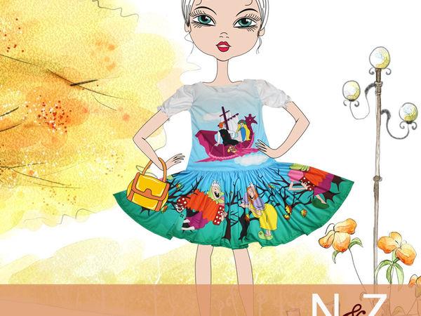 Шьем платье по мотивам мультфильма «Летучий корабль» | Ярмарка Мастеров - ручная работа, handmade