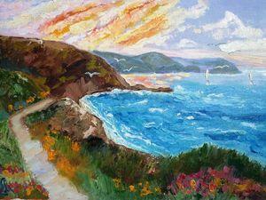 "Новая картина ""Шёпот моря"". Ярмарка Мастеров - ручная работа, handmade."