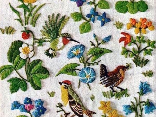 Crewel: красота, тепло и уют вышивки шерстью | Ярмарка Мастеров - ручная работа, handmade