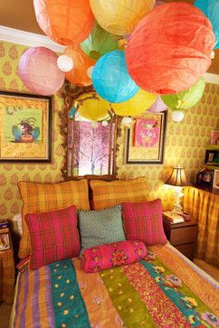Cheerful bedroom  #bohemian #interior