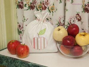Шьем мешочки для сушеных яблок с элементами аппликации. Ярмарка Мастеров - ручная работа, handmade.