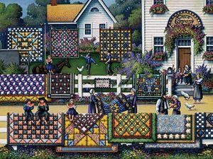 Город в стиле пэчворк. Ярмарка Мастеров - ручная работа, handmade.