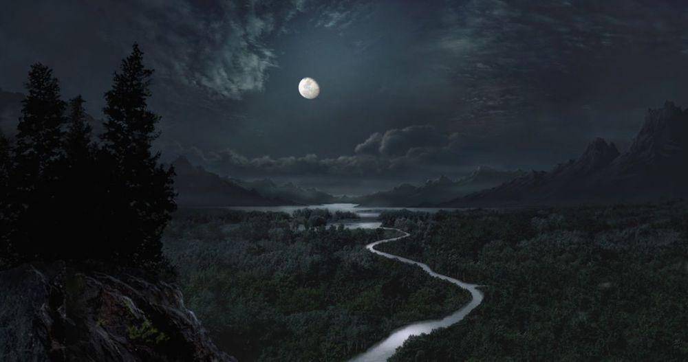 луна, стих