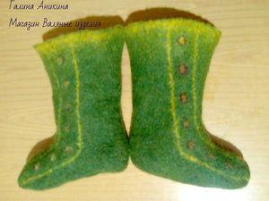 Анонс моих носочков валяных. Ярмарка Мастеров - ручная работа, handmade.