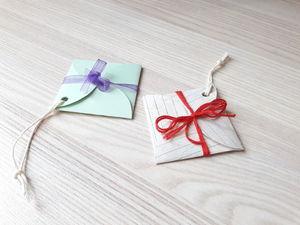 Мастерим конвертики с пожеланиями на елку. Ярмарка Мастеров - ручная работа, handmade.