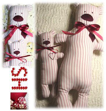 мишка, мишки, тильда, кукла, текстильная кукла