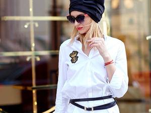 С чем носить модный тюрбан? вариант - джинсы и рубашка.. Ярмарка Мастеров - ручная работа, handmade.