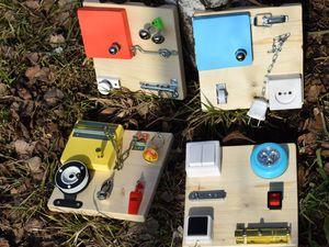 Удивительный набор развивающих планшетов  (бизибордов) | Ярмарка Мастеров - ручная работа, handmade