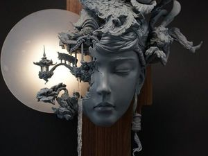 Chinese Sculptor and His Peach Spring. Livemaster - handmade