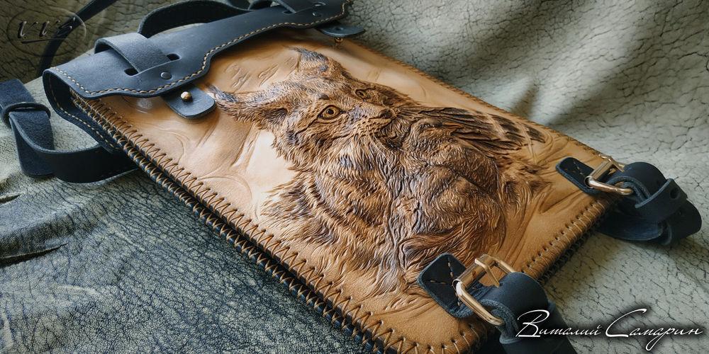 сумка кожаная, сумка ручной работы, тиснение по коже, мужская сумка