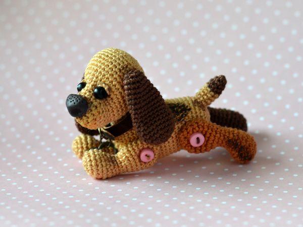 Вяжем крючком собачку Бусинку. Ярмарка Мастеров - ручная работа, handmade.