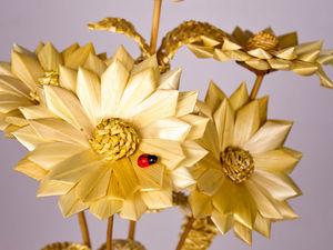 Букет цветов из соломки. Ярмарка Мастеров - ручная работа, handmade.