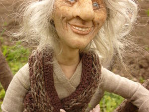 Кукла на проволочном каркасе. Ярмарка Мастеров - ручная работа, handmade.