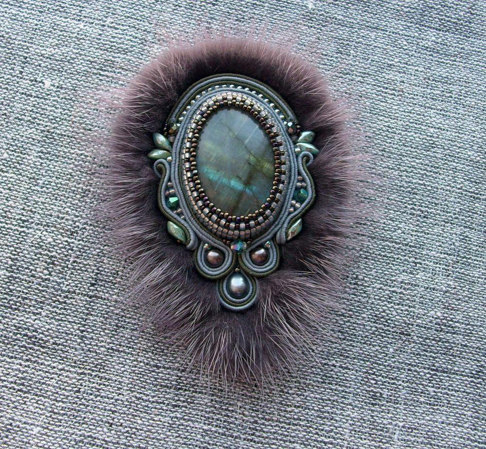 ожерелье с мехом