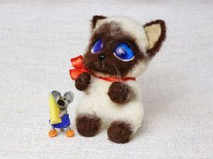 Котенок Гав и мышонок Пиф. Ярмарка Мастеров - ручная работа, handmade.