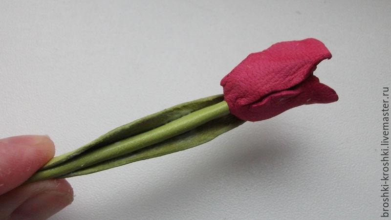 мк по коже тюльпаны
