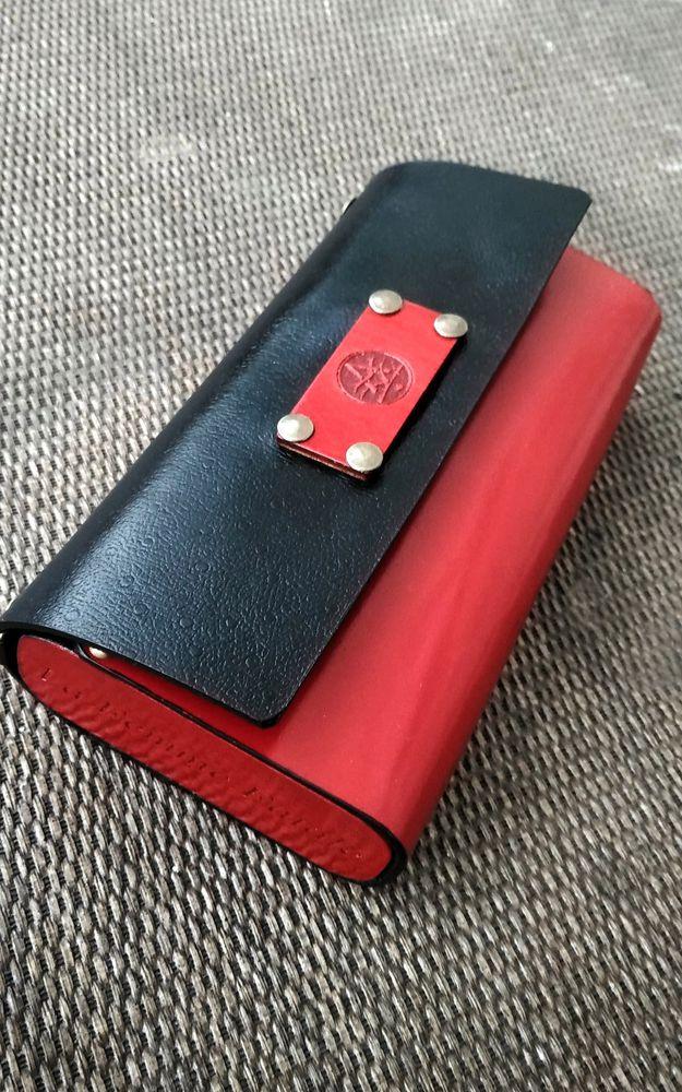 дерево и кожа, сумка мечты, клатч, красный, красный и черный, кармен