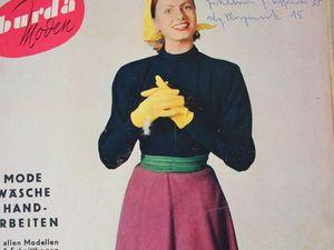 Burda moden 1/1953 Бурда Моден. Ярмарка Мастеров - ручная работа, handmade.