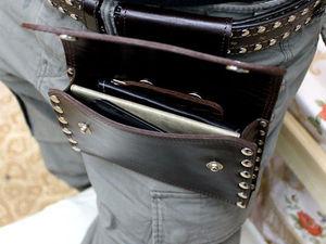 Аукцион! Кожаная сумка на пояс. | Ярмарка Мастеров - ручная работа, handmade