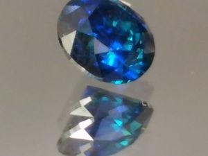 Бриллиант синий 0,46 кт. Ярмарка Мастеров - ручная работа, handmade.